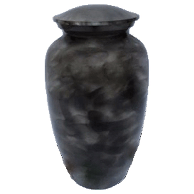 Black Smoke with Silver Accent Urn (MUNS-008) Image