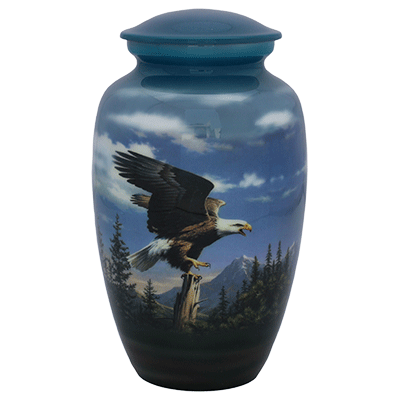 American Bald Eagle Light Blue Urn (MUNS-081) Image