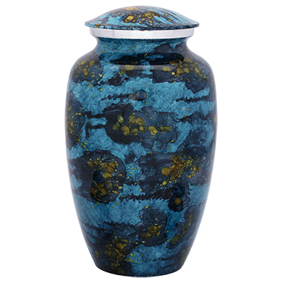 Astronomers Dream Blue & Gold Urn (MUNS-037) Image
