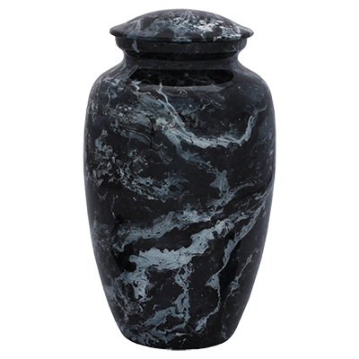 Black Sky Marble Finish Urn (MUNS-083) Image