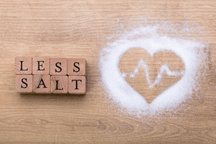 Picture of heart with salt around it