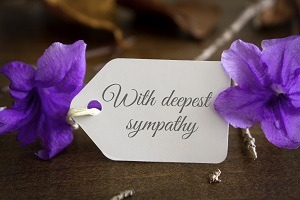 With deepest sympathy notecard