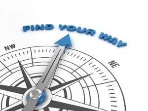 Compass with FIND YOUR WAY Phrase